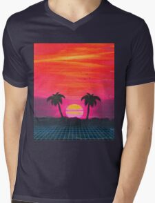 Retro sunset 2 Mens V-Neck T-Shirt