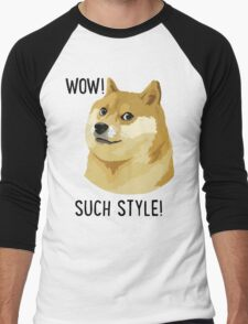 WOW! SUCH STYLE! Doge Meme T Shirts and More Men's Baseball ¾ T-Shirt