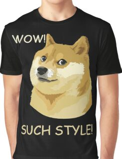 WOW! SUCH STYLE! Funny Doge Meme Shiba Inu T Shirt Graphic T-Shirt