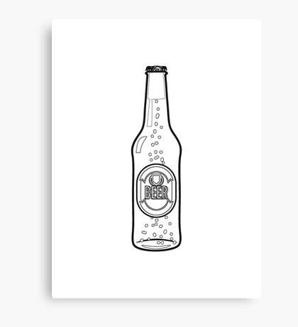 Beer drinking beer bottle Canvas Print