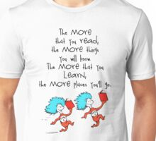 Thing Read Book Dr Seuss Quote Unisex T-Shirt
