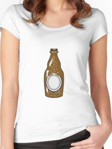 Beer Beer Bottle thirst booze Women's Fitted Scoop T-Shirt