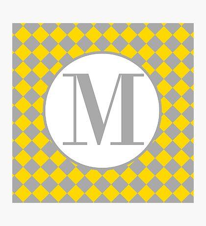 M Checkard Photographic Print