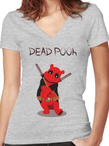 Funny Deadpooh Women's Fitted V-Neck T-Shirt