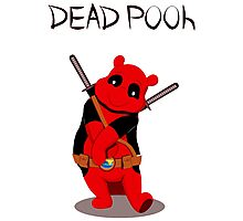 Funny Deadpooh Photographic Print
