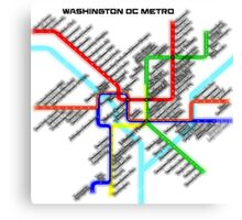 Washington DC Metro Map Canvas Print