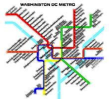 Washington DC Metro Map Photographic Print