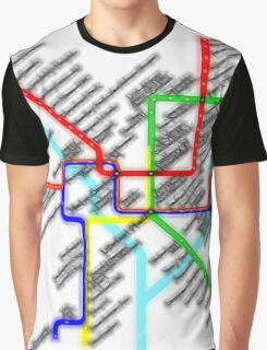 Washington DC Metro Map Graphic T-Shirt