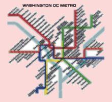 Washington DC Metro Map One Piece - Short Sleeve