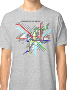 Washington DC Metro Map Classic T-Shirt