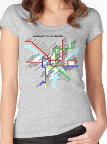 Washington DC Metro Map Women's Fitted Scoop T-Shirt