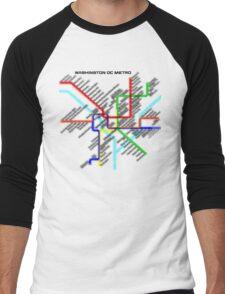 Washington DC Metro Map Men's Baseball ¾ T-Shirt