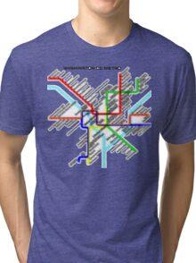 Washington DC Metro Map Tri-blend T-Shirt