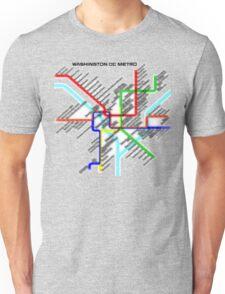 Washington DC Metro Map Unisex T-Shirt