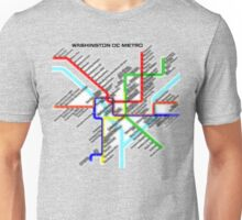 Washington DC Metro Map Unisex T-Shirt