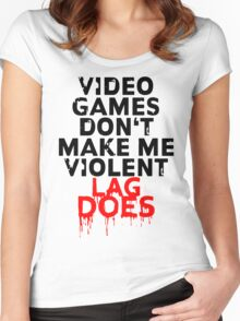 Videogames don't make me violent Women's Fitted Scoop T-Shirt