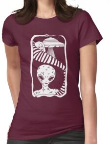 Grey Space by Allie Hartley  Womens Fitted T-Shirt
