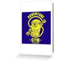 Jake Adventure Time Gym Greeting Card