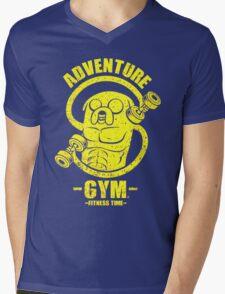 Jake Adventure Time Gym Mens V-Neck T-Shirt
