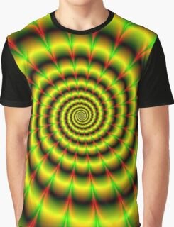 Spiral in Yellow Red and Green Graphic T-Shirt