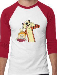 Calvin And Hobbes Fun Art Men's Baseball ¾ T-Shirt