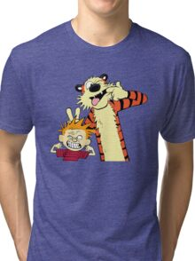 Calvin And Hobbes Fun Art Tri-blend T-Shirt