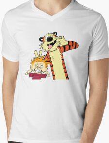 Calvin And Hobbes Fun Art Mens V-Neck T-Shirt