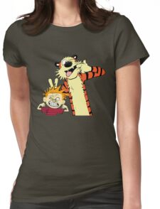 Calvin And Hobbes Fun Art Womens Fitted T-Shirt