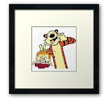 Calvin And Hobbes Fun Art Framed Print