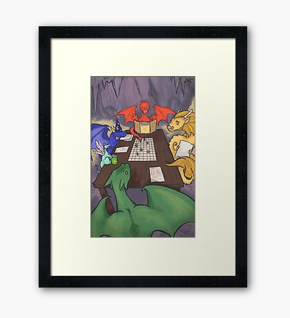 Dragons and Dungeons Framed Print