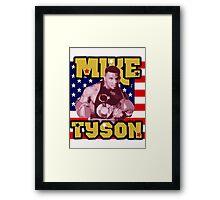 Mike Tyson American Heavyweight Champ Framed Print