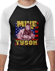 Mike Tyson American Heavyweight Champ Men's Baseball ¾ T-Shirt