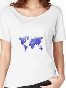 Mappodevorio V3 - abstract world map Women's Relaxed Fit T-Shirt