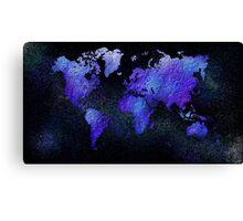 Mappodevorio V3 - abstract world map Canvas Print