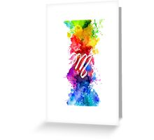 M Artistic Greeting Card