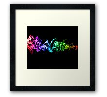 Colorful Abstract Smoke - A Rainbow in the Dark Framed Print