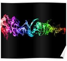 Colorful Abstract Smoke - A Rainbow in the Dark Poster