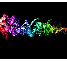 Colorful Abstract Smoke - A Rainbow in the Dark Photographic Print