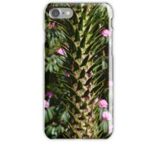 Monkey Puzzle and Pink Flowers iPhone Case/Skin