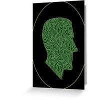 Lovecraft Silhouette Greeting Card