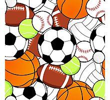 Sports Fan Pattern Photographic Print
