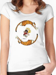Calvin And Hobbes Fun Women's Fitted Scoop T-Shirt