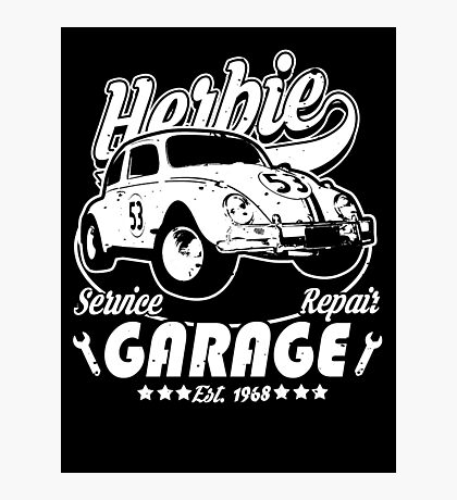 Herbie Garage Photographic Print