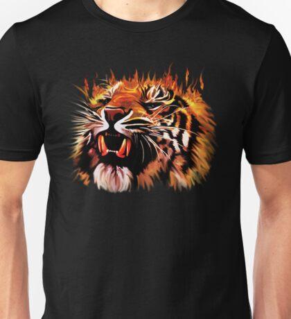 Fire Power Tiger Unisex T-Shirt