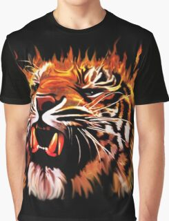 Fire Power Tiger Graphic T-Shirt
