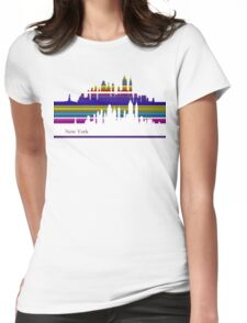 New York lines 2 Womens Fitted T-Shirt