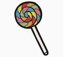 Rainbow Lollipop Pattern Kids Tee