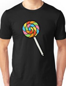 Rainbow Lollipop Pattern Unisex T-Shirt