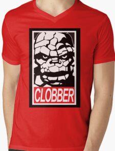 Clobber Mens V-Neck T-Shirt