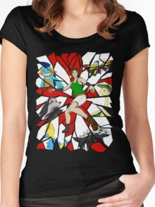 Emerald Skies Cover v2 Women's Fitted Scoop T-Shirt